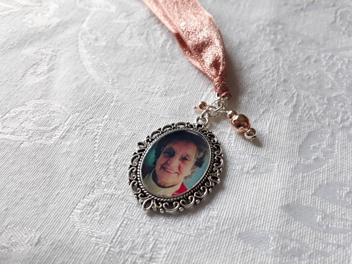 Framed Photo Bouquet Memory Charm - Wedding Bouquet Charms